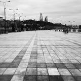 Boulvard of Baku city. (capital of Azerbaijan royalty free stock photo