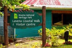 Bouma dziedzictwa parka gościa Krajowy centrum w Lavena wiosce dalej Zdjęcia Royalty Free