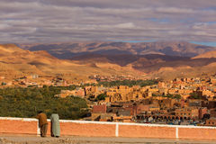 Boumalne Dades city near to Gorges de Dades, Morocco Royalty Free Stock Photography