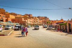 Boumalne Dades, Morocco - October 31, 2016: Street Boumalne Dade Royalty Free Stock Photography