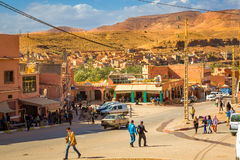 Boumalne Dades, Morocco - October 31, 2016: Street Boumalne Dade Stock Photography