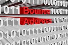 Bounce address. As a binary code 3D illustration stock illustration