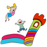 Bounce House Kids vector illustration