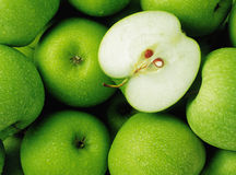 Bounch of green apples stock image