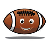 Bouncing american football ball Royalty Free Stock Photo