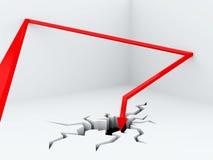 Bouncing arrow Royalty Free Stock Image