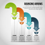Bouncing Arrows Infographic Stock Image