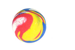 Bouncing ball. A colorful bouncing ball on a white background Royalty Free Stock Photography