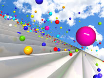 Bouncing balls. Colorful bouncing balls representing optimism Royalty Free Stock Photo