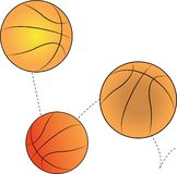 Bouncing Basketballs Stock Image