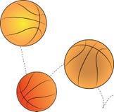 Bouncing Basketballs Stock Image