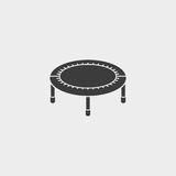 Bouncing bed icon fish icon in a flat design in black color. Vector illustration eps10 Royalty Free Stock Photos