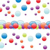 Bouncing bubbles Royalty Free Stock Photography