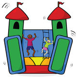 Bouncing castle Stock Image