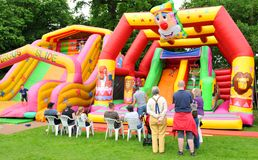 Bouncing castle royalty free stock images