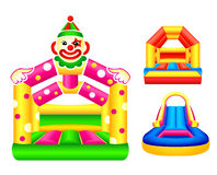 Bouncing castles Royalty Free Stock Image