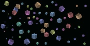 Bouncing cubes Royalty Free Stock Image