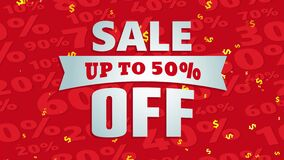 up to 50 percent off discount sale announcement