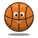 Bouncing happy brown basketball Stock Photography