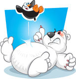 Bouncing Penguin And Polar Bear Stock Images