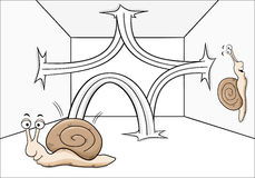 Bouncing snail Royalty Free Stock Image