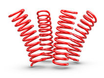 Bouncing Springs Royalty Free Stock Photography