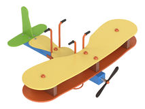 Bouncy aeroplane on springs Stock Image