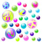 Bouncy balls illustration Royalty Free Stock Images