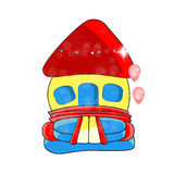 Bouncy castle - children's entertainment, , inflatable toy Stock Images