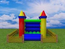 Bouncy castle 3d render image Stock Images