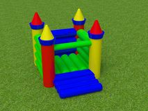 Bouncy castle 3d render image Stock Image