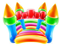 Bouncy Castle. An illustration of a colourful inflatable children s party castle Stock Photography