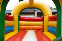 Bouncy castle interior Stock Photography