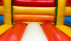Bouncy castle interior Royalty Free Stock Photo