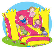 Bouncy Castle Party Royalty Free Stock Photography
