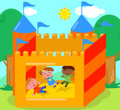 Bouncy castle vector Royalty Free Stock Image