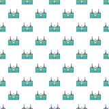 Bouncy castles pattern seamless. Bouncy castles pattern in cartoon style. Seamless pattern vector illustration Stock Images