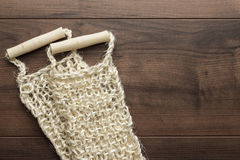 Bound bast with wooden grips Royalty Free Stock Photography