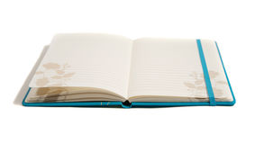 Bound blue notebook ready for your words Stock Photos
