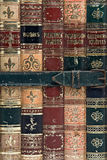 Bound Books. Close up of old books bound together by a buckled strap Royalty Free Stock Image
