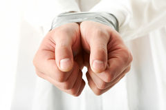 Bound hands Stock Photos