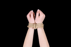 Bound hands Royalty Free Stock Images