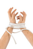 Bound hands Stock Image