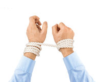 Bound hands Royalty Free Stock Image