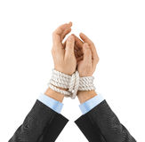 Bound hands Royalty Free Stock Photography
