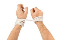 Bound hands Stock Image