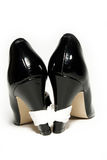 Bound High Heels. On white background Royalty Free Stock Images