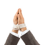 Bound praying hands Royalty Free Stock Image