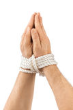 Bound praying hands Stock Images