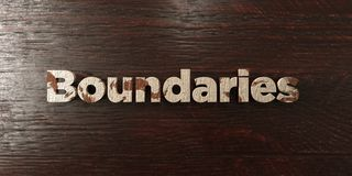 Boundaries - grungy wooden headline on Maple  - 3D rendered royalty free stock image Royalty Free Stock Photos